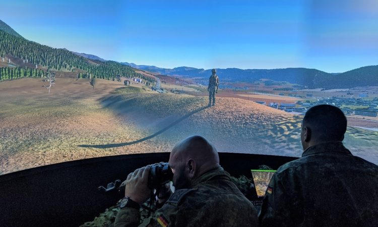 Bagira's Fire Support Training Simulators Participated in the Multination Bison Strike Exercise in the D-sim 't Harde, Netherlands